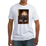 Queen / Cocker Spaniel (blk) Fitted T-Shirt