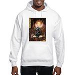 Queen / Cocker Spaniel (blk) Hooded Sweatshirt