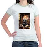 Queen / Cocker Spaniel (blk) Jr. Ringer T-Shirt