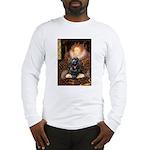 Queen / Cocker Spaniel (blk) Long Sleeve T-Shirt