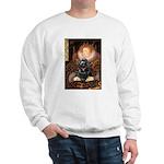 Queen / Cocker Spaniel (blk) Sweatshirt