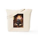 Queen / Cocker Spaniel (blk) Tote Bag