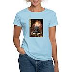 Queen / Cocker Spaniel (blk) Women's Light T-Shirt