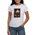 Queen / Cocker Spaniel (blk) Women's T-Shirt
