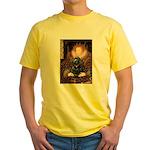 Queen / Cocker Spaniel (blk) Yellow T-Shirt