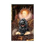 Queen / Cocker Spaniel (blk) Sticker (Rectangle 50