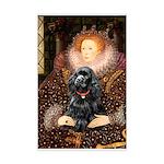 Queen / Cocker Spaniel (blk) Mini Poster Print