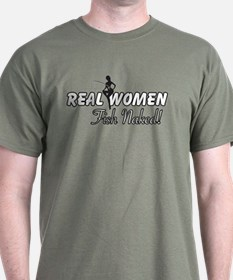 Real Women Fish Naked T-Shirt