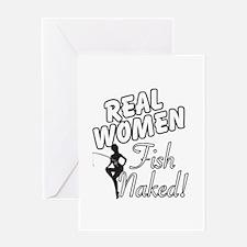 Real Women Fish Naked Greeting Card