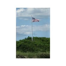 American Flag on the Dunes Rectangle Magnet