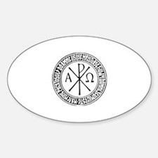 Romanian Christogram Oval Decal