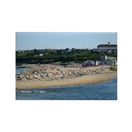 Ballard's Beach Rectangle Magnet