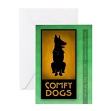 Comfy Dogs of Natick, MA Dog Greeting Card