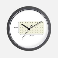Coprime Lattice Wall Clock