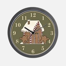 Gingerbread House Holiday Wall Clock