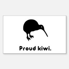Proud Kiwi Rectangle Decal