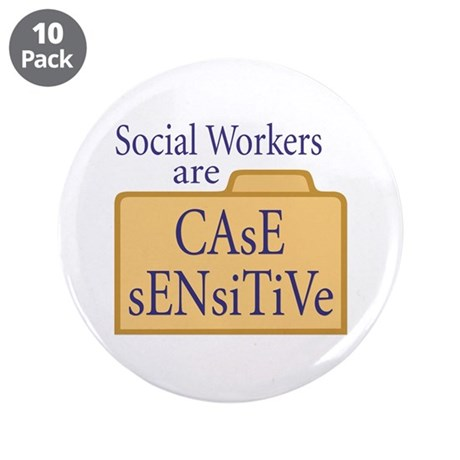"Social Workers 3.5"" Button (10 pack)"