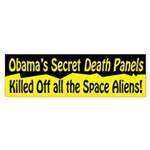 Space Alien Death Panel Bumper Sticker