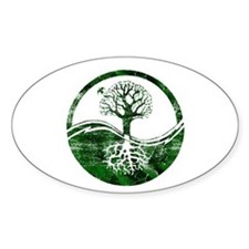 Yin Yang Tree Oval Decal