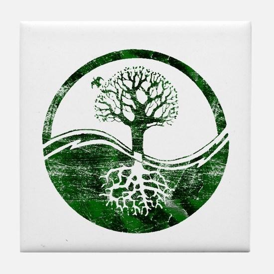 Yin Yang Tree Tile Coaster