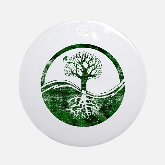 Yin Yang Tree Ornament (Round)