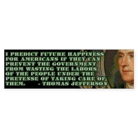 Jefferson on Wasted Labours Bumper Sticker