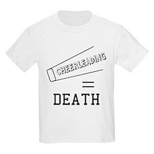 Cheerleading Equals Death Kids Light T-Shirt