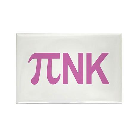 Pi nk Pink Rectangle Magnet
