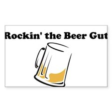Beer Gut Rectangle Decal