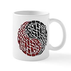 Celtic Knotwork Yin Yang Single Motif Mug