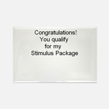 Cute Stimulus package Rectangle Magnet