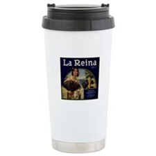 Stainless Steel Rialto Citrus LabelTravel Mug
