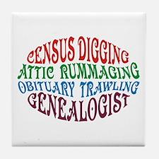Census Digging Tile Coaster
