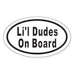Li'l Dudes On Board Oval Sticker