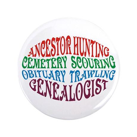"Ancestor Hunting 3.5"" Button"