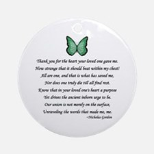 Donor Thank You Poem Ornament (Round)