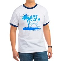 Life Is A Beach Ringer T
