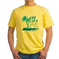 Life Is A Beach Yellow T-Shirt