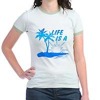 Life Is A Beach Jr. Ringer T-Shirt