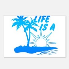 Life Is A Beach Postcards (Package of 8)