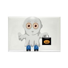 Kid Halloween Ghost Rectangle Magnet