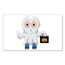 Kid Halloween Ghost Rectangle Decal