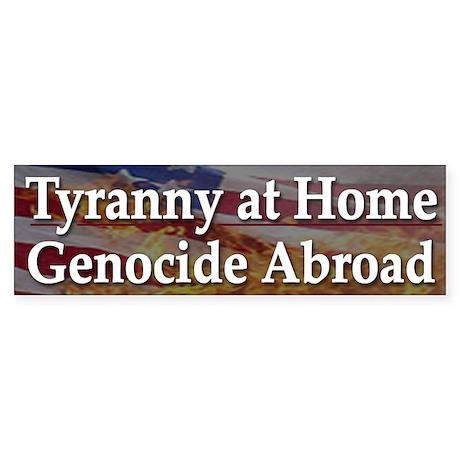 USA Incorporated Tyranny - Bumper Sticker