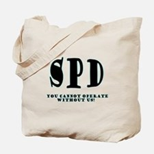 SPD 3 back/blue Tote Bag