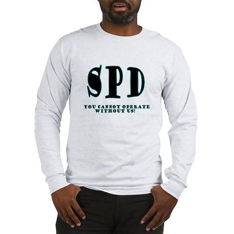SPD 3 back/blue Long Sleeve T-Shirt