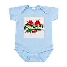 "Italian :""Bellissima"" Infant Creeper"