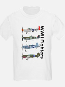 P-51 Mustang, Corsair P-40, Spitfire T-Shirt