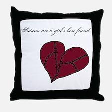 Cute Broken heart Throw Pillow