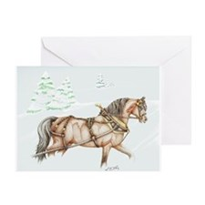 Snowy stallion Christmas Cards (Pk of 10)