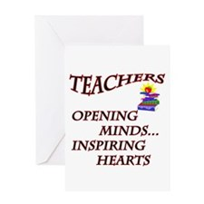TEACHERS OPENING MINDS Greeting Cards